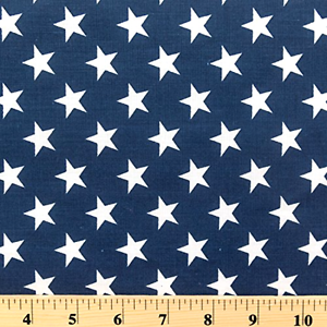 Image Is Loading Stars Quilt Fabric Poly Cotton By The
