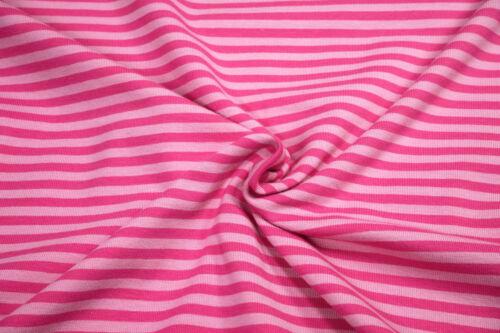 Bio Jersey lillestoff Rapunzelpink rosa pink gestreift 0,5m