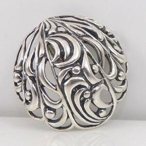 Carolyn-Pollack-Relios-Sterling-Silver-Modernist-Circle-Enhancer-Pendant-LFD4