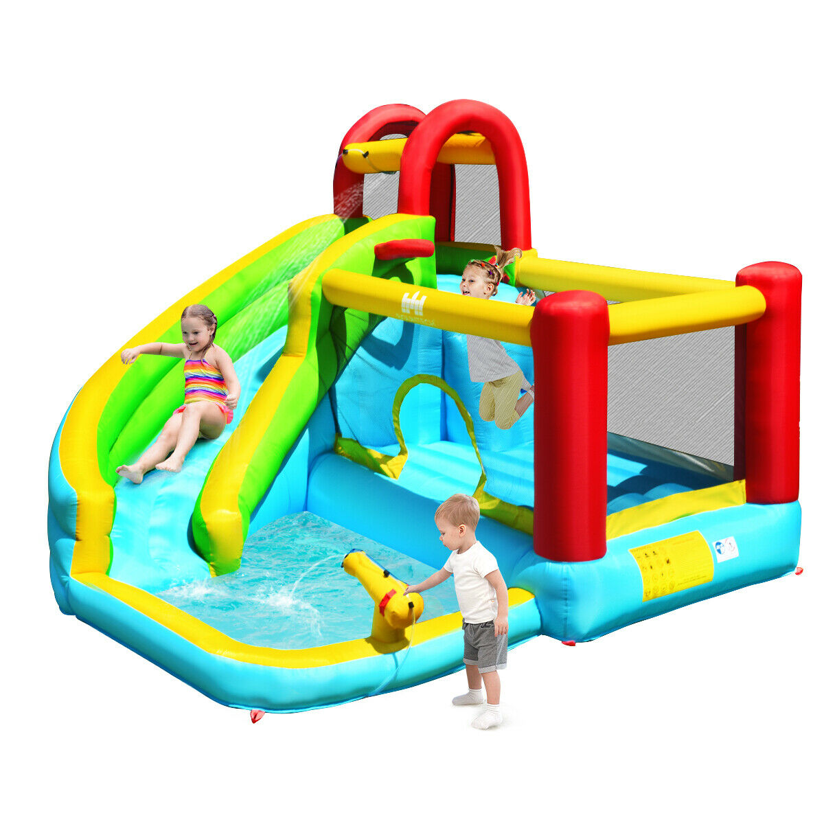 Inflatable Water Slide Bounce House Jumper Kids Swimming Pool Commercial Banzai For Sale Online Ebay