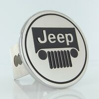 Jeep Chrome Logo Trailer Hitch Plug Cover