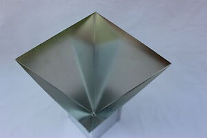 5 x 5 four sided pyramid candle mold metal new ebay