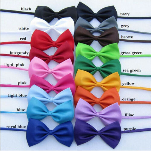 Kids Boys Adjustable Strap Pre-tied Polyester BowTie Wedding Tuxedo BOW TIE
