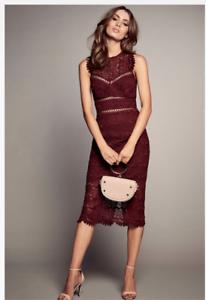 Details About Bardot Mariano Lace Sheath Dress Boysnberry Us Size 8 Medium