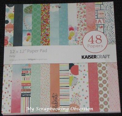 "48 Sheets Kaisercraft /'BASE COAT/' 12x12/"" Paper Pad KAISER 24 Designs x2"