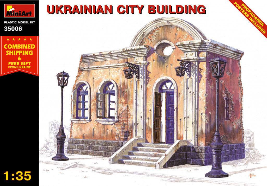 PLASTIC MODEL BUILDING KIT UKRAINIAN CITY BUILDING 1 35 SCALE MINIART 35006