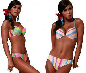 b22887430998b Push Up Padded Extra Uplift Bikini Set Italian fabric made in Europe ...