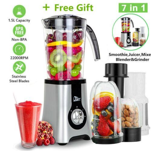 7in1 Food Blender Food Processor Smoothie SW Maker Fruit Juicer Coffee Grinder