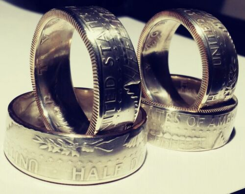 Sizes 7.5-15  1965  1966  1967  1968 or 1969 Silver Coin Ring *Tails showing*