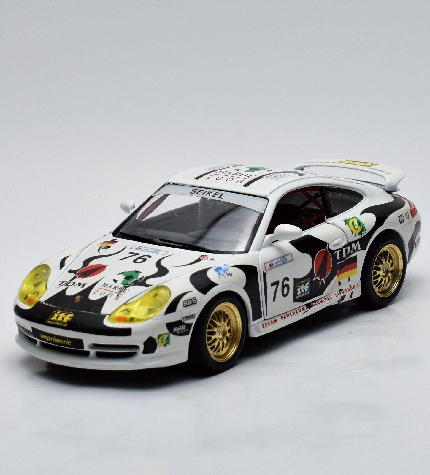 Bburago 3335 Porsche 911 gt3 Cup Racing équipe AVIA Seikel  76, neuf dans sa boîte, 1 18, k007