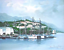 thumbnail 1 - San Francisco Plein Air Painting Sausalito CA Yacht Harbor Boat House Vintage