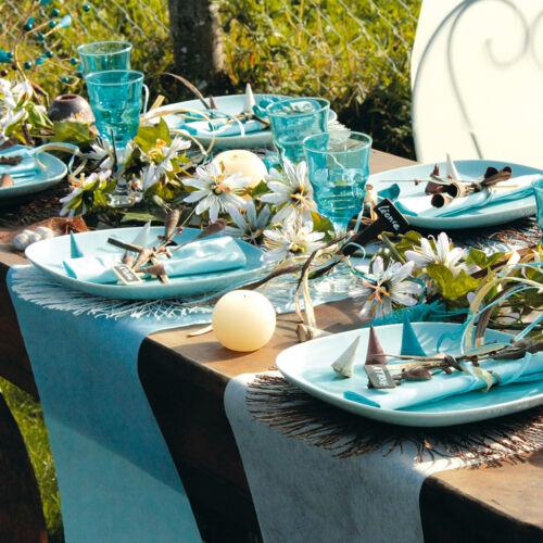 Tischläufer Tischband Vlies Fuchsia 30 cm x 25 m Dekostoff Banner Tischdecke