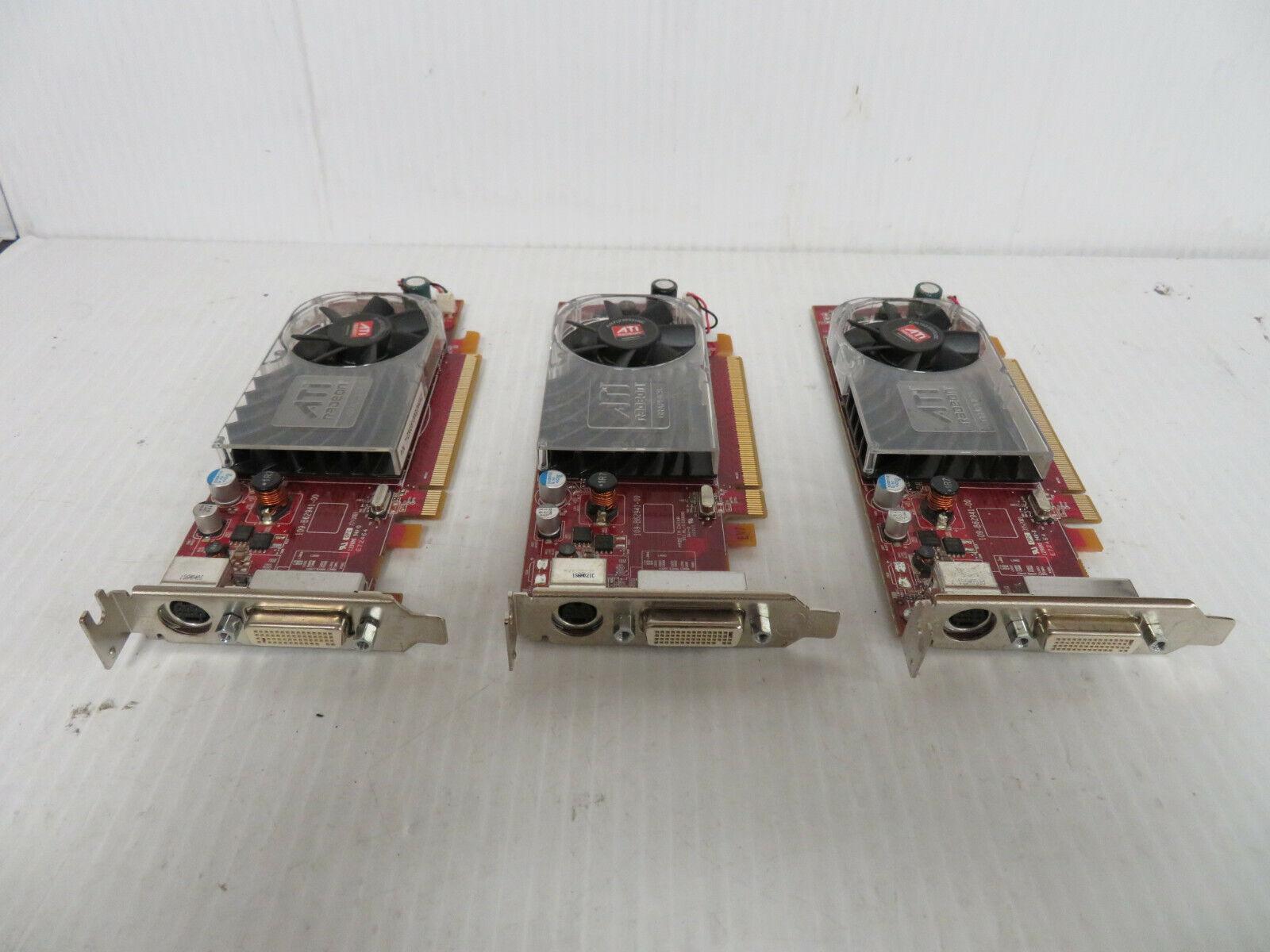 Lot of 3 Dell AMD HD 3450 780 Dual Monitor Video Graphics Card PCI-e SFF ATI