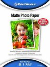 Printworks Matte Photo Paper Double-sided 8 Mil Inkjet 30 Sheets 8.5 X 11 I