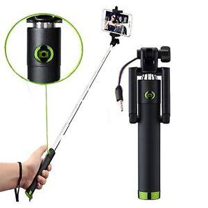 Allview-p43-Easy-Selfie-Stange-Stick-Ausloeser-AUX-Selfiestick-Gruen