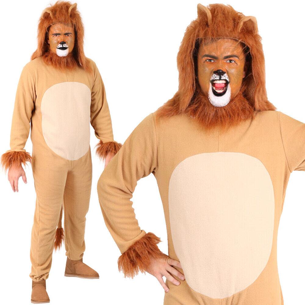 Lion Ears /& Tail Set Mane Lion Costume Fancy Dress Adults Kids Animal Party NEW