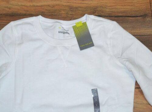 Tek Gear Performance Ultra Soft NEW WHITE Sweatshirt Crewneck Active Wear