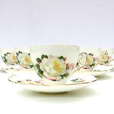 Vintage Bone China Tea Set Floral Roses 5 Cups Saucers