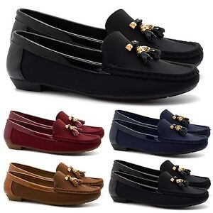 Image Is Loading New Womens Tel Loafers Office Pumps Las Flats