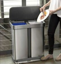 Item 2 New Garbage Waste Trash Bin Basket Can Stainless Steel Kitchen 16 Gallon Lid
