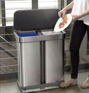 New Garbage Waste Trash Bin Basket Can