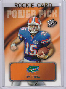 Details About Tim Tebow Florida Gators Power Pick Rookie Card Football Denver Broncos Rc
