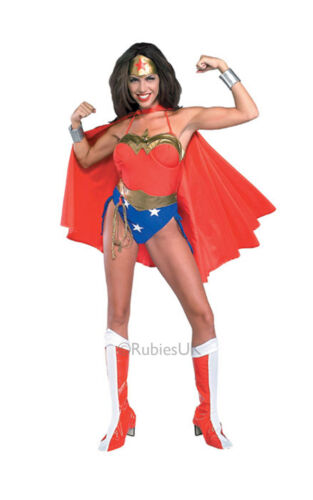 FANCY DRESS COSTUME ~ LICENCED WONDER WOMAN 10-12 MED