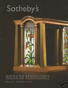 Antiques Trustful Sotheby's Catalogue American Renaissance 15/12/2006 Hb By Scientific Process