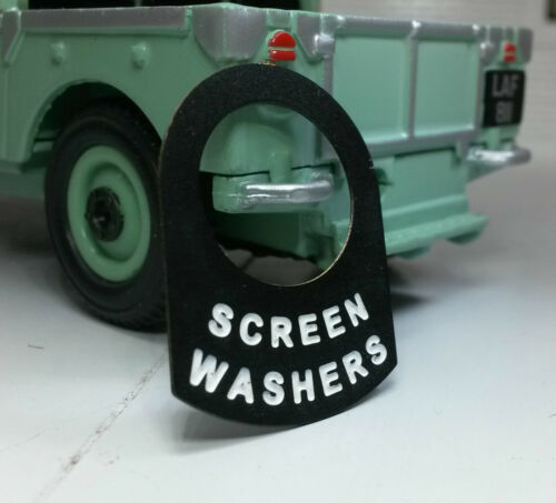Land Rover Series 1 2 2a 2b Metal Switch Tab Badge Decal Label Screen Washers