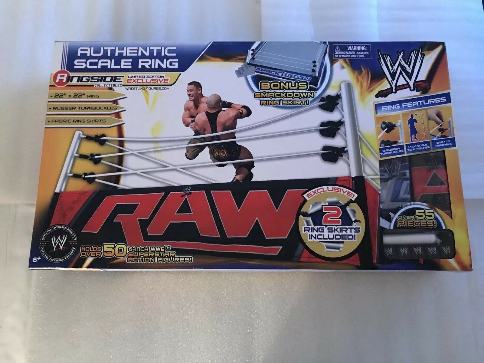 WWE Authentic Scale Ring Ringside Collectibles Limited Edition Exclusive RSC NEW
