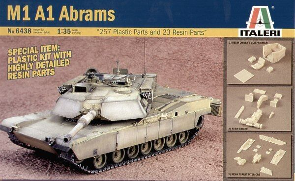Italeri 1 35 M1A1 Abrams with resin parts Plastic Model Kit