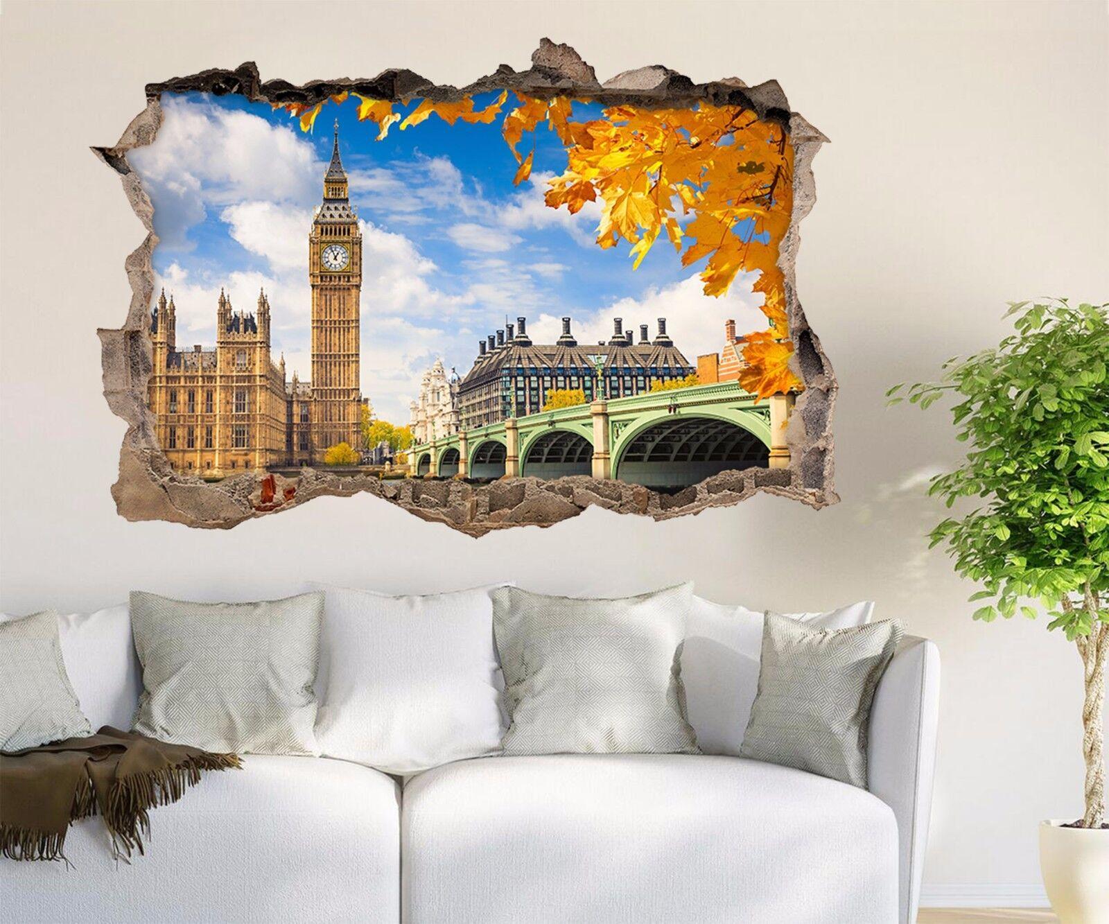 3D Herbst Big Ben 8 Mauer Murals Mauer Aufklebe Decal Durchbruch AJ WALLPAPER DE
