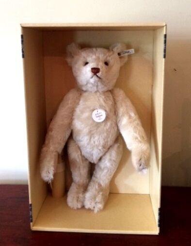 STEIFF   TEDDY BEAR 1921 REPLICA  EAN 407123 bianca  MOHAIR 40 CM  LIM ED 1996