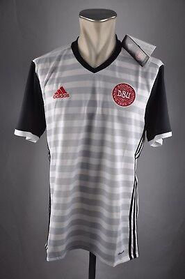 S M L XL XXL 3XL Denmark 2016 Away WM EM jersey Shirt Dänemark Trikot Adidas Gr