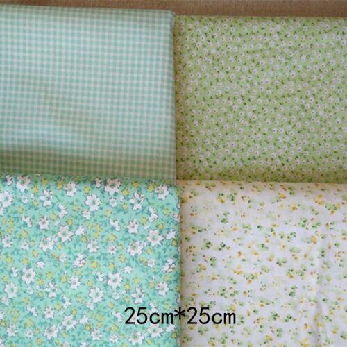 4PCS 50*50cm Fabric Bundle Cotton Patchwork Sewing Quilting Tissue Cloth DIY