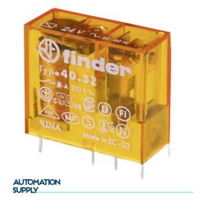 Finder printrelais 40.52-24 V dc//8a//2 changeur