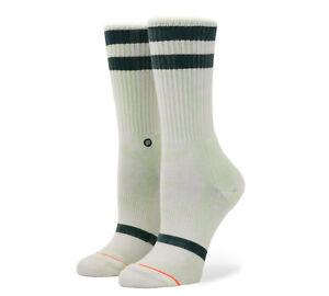 Kleidung & Accessoires Verantwortlich Stance Socks New Womens Classic Uncommon Crew Socks Green Bnwt Clear-Cut-Textur