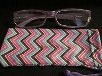 Jm York Reading Glasses +1.50 Lavender & Gold Spring Joy Mangano Purple