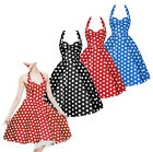 Ladies Vintage Rockabilly Polka Dot Retro Swing 50s 60s pinup Housewife Dress