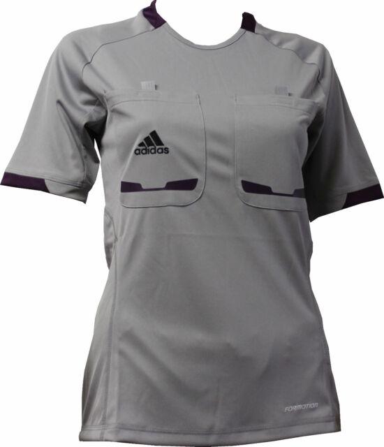 a2d1cd90ed8e7 Adidas mujer portera 12 camiseta Árbitro camisa manga corta gris L ...