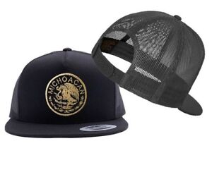 b436cf4e183206 Image is loading Michoacan-Mexican-Seal-Mesh-Snapback-YUPOONG
