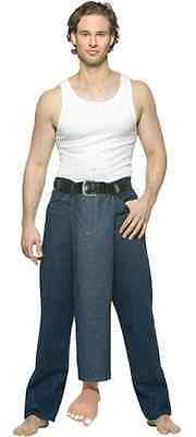 Third Leg Well Hung Jeans Funny Comic Fancy Dress Up Halloween Adult Costume