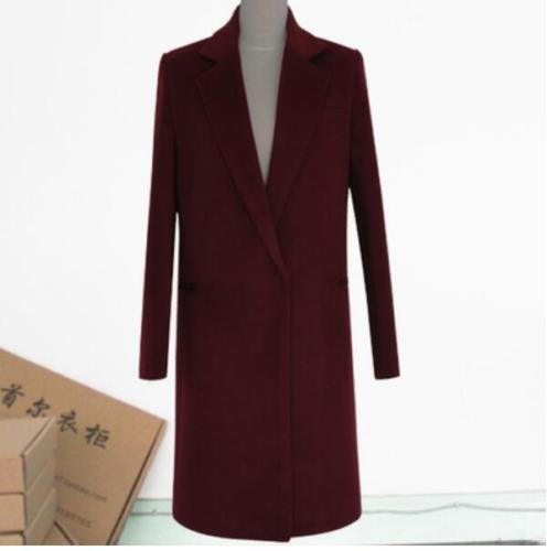 Women's Women's Women's Lapel Outwear Coat Woolen Warm Overcoat Long Blazers Coat Parka Sz S-3XL b8c613