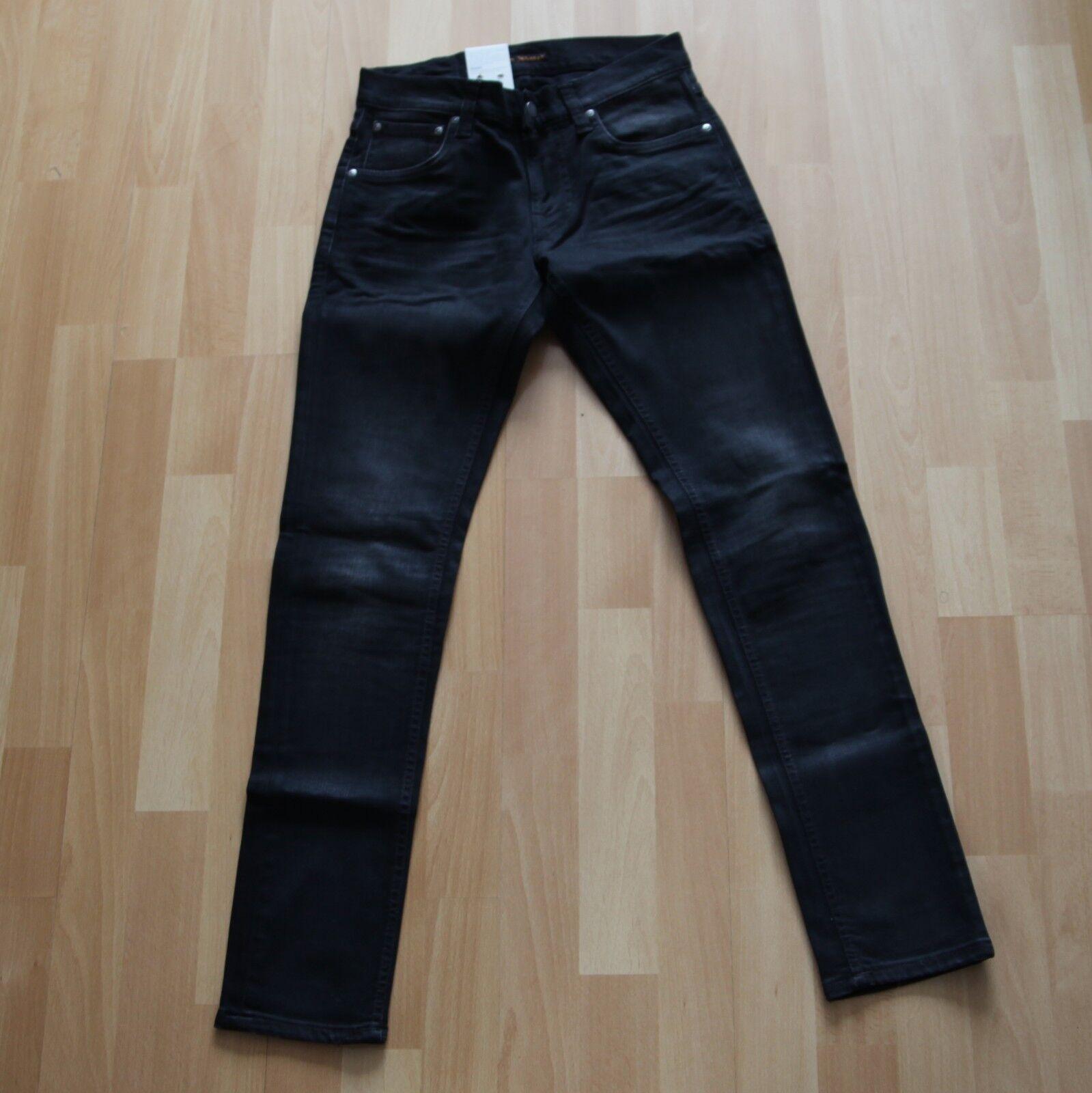 NEU Nudie Jeans Tight Terry (Tight Antifit) Authentic schwarz 28 32