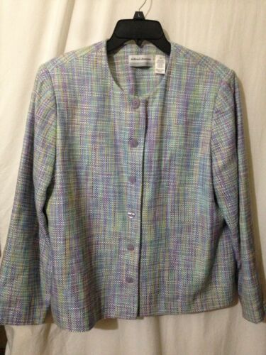 Alfred Dunner Jacket Tweed Blazer  Pastel Colors S