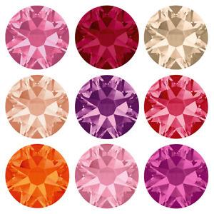 Genuine-SWAROVSKI-2058-amp-2088-Flat-Back-Crystals-No-Hotfix-Many-Colors-amp-Sizes