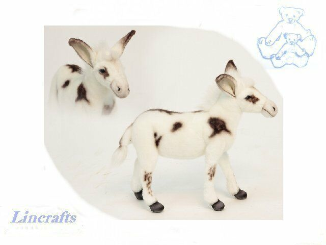 Hansa Standing Ivory Donkey 5949 Soft Toy Sold by Lincrafts Established 1993