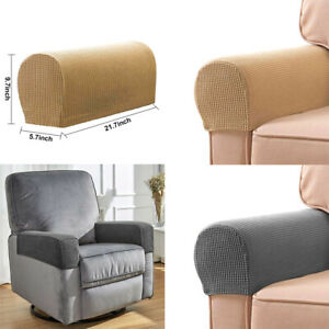 Details About 2pcs Premium Furniture Armrest Covers Leather Sofa Couch Chair Arm Protectors