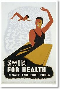 Swim-For-Health-in-Safe-amp-Pure-Pools-New-Vintage-1940-WPA-Art-POSTER