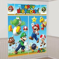 Super Mario Scene Setter Wall Decoration Happy Birthday Party Backdrop Nintendo